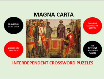 Magna Carta: Interdependent Crossword Puzzles Activity