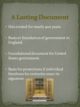 Magna Carta, Mayflower Compact, English Bill of Rights--Why They Matter.