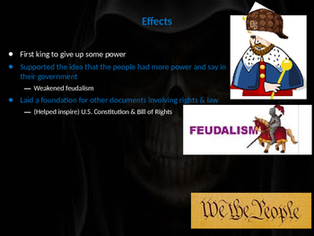 Magna Carta PowerPoint Lesson (with assessment activity)