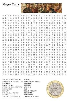 Magna Carta Word Search