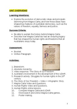 Magna Carta and Human Rights Booklet
