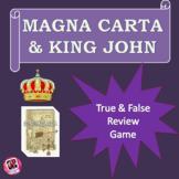 Magna Carta and King John review game