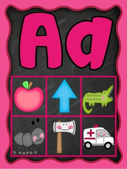 Magnet Beginning Sounds Alphabet Letter Mat Activity Boards Posters Anchor Chart