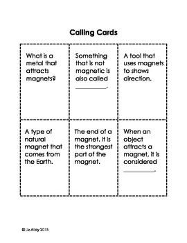 Magnet Bingo Game