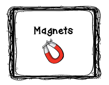 Magnet Definitions Posters FREEBIE!
