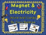 Magnet & Electricity Word Wall Vocabulary Cards
