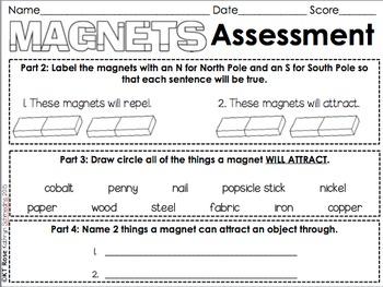 Magnet Exploration Activities/Assessment