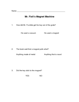 Magnet Fiction Story Questions