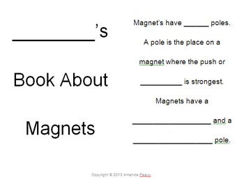 Magnet Investigations Mini-Book