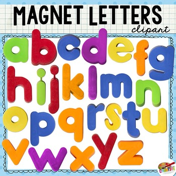 Magnet Letter Clip Art Lowercase Alphabet By Keeping Life Creative