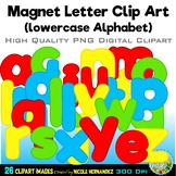 Magnet Letters Clip Art (lowercase a-z) Clip Art for Personal and Commercial Use