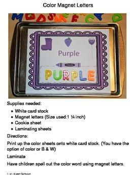Magnet Letter Color Spelling
