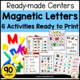 Ready-made Centers for Magnet Letters