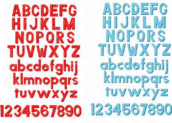 Magnet Letters Alphabet and Number Clipart by Poppydreamz