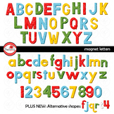 Magnet (Look-Alike) Letters Alphabet and Number CLIPART by