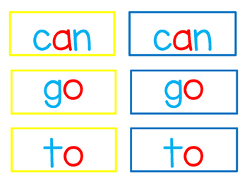 Magnet Letters - Sight Word Cards