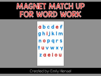 Magnet Match Up for Word Work