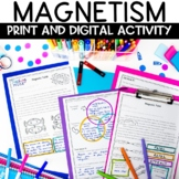 Magnet Nonfiction Reading Article and Activity Worksheet for Your Magnetism Unit