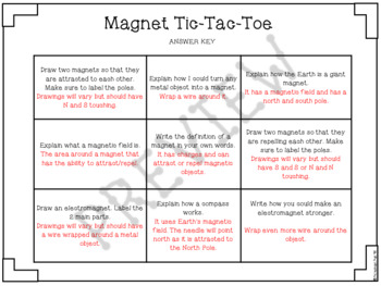 Magnet Quiz ~ 4th-5th Grade