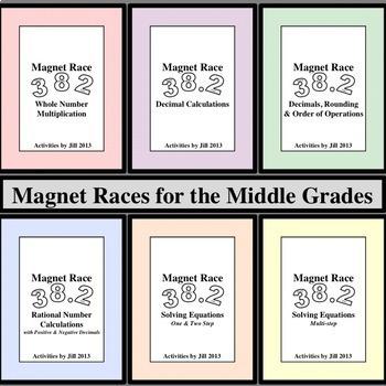 Magnet Races for the Middle Grades Bundle