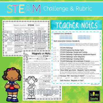 Magnet STEAM & STEM Challenge NGSS 3-PS2-3 and 3-PS2-4