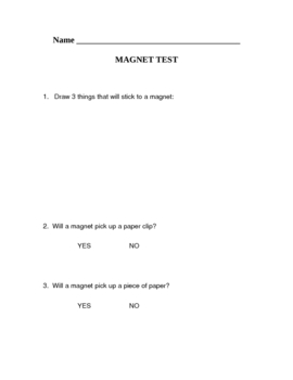 Magnet Study Guide and test