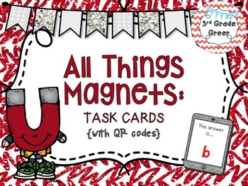 Magnet Task Cards {WITH QR CODES}