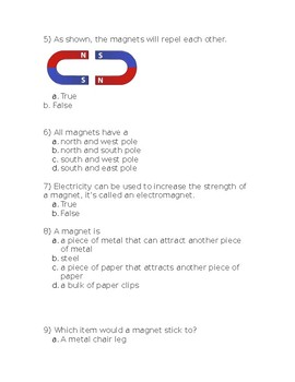 Magnet Unit Quiz