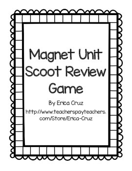 Magnet Unit Scoot Review Game