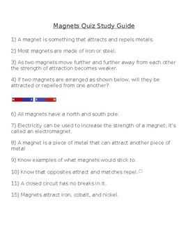 Magnet Unit Study Guide