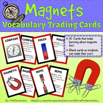 Magnet Vocabulary Trading Cards