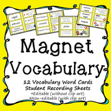 Magnet Vocabulary Science Activity & Word Wall