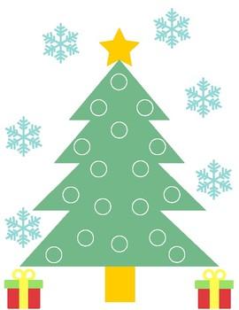 Magnet Wand Activity - Christmas Tree Lights