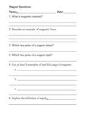 Magnet Worksheet