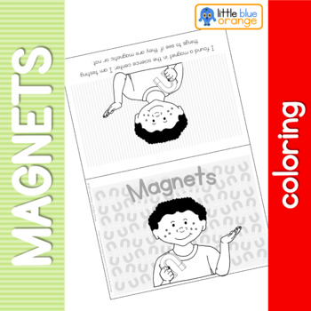 Magnet coloring booklet