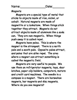 Magnet reading comprehension