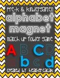 Magnetic Alphabet Letter File Folder Match Up Game