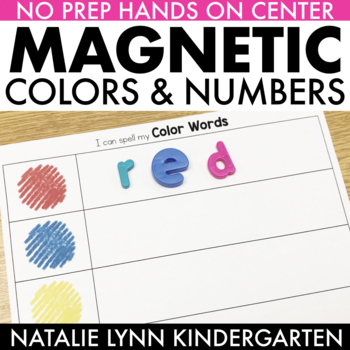 Magnetic Color and Number Words
