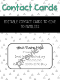 Editable Magnetic Contact Cards