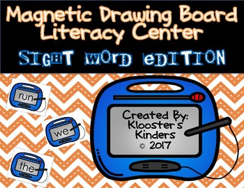 Magnetic Drawing Board Literacy Center / Station - Pre Primer Sight Word Edition