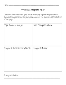 Magnetic Field Investigation Recording Sheet and Discussion Questions