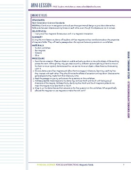 Magnetic Fields - STEM Lesson Plan with Journal Page