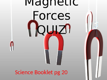 Magnetic Forces Quiz