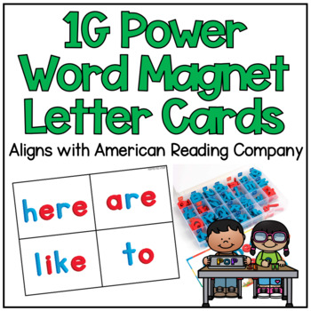 Magnetic Letter 1G Power Word Cards (American Reading Company)