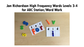 ABC Station/Word Work Jan Richardson High Frequency Words Levels 3-4
