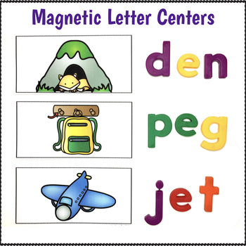 Magnetic Letter Activities CVC Words