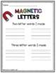 Magnetic Letter Activity Center Sheet