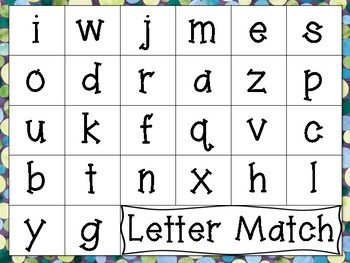 Magnetic Letter Alphabet Word Work Centers