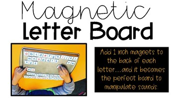 magnetic letter board by creating teaching inspiring tpt