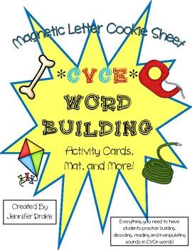 Magnetic Letter CVCe Word Building!  Long Vowel Picture Ca